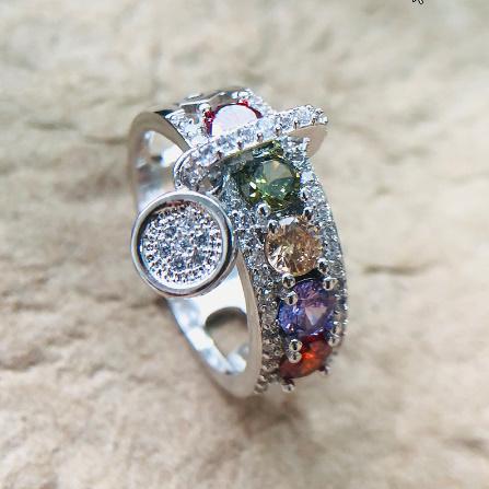 ヴィンテージローズゴールド 結婚指輪女性 ファッションジュエリーラグジュアリー ホワイトジルコン婚約指輪 k-1366_画像4