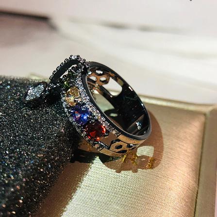 ヴィンテージローズゴールド 結婚指輪女性 ファッションジュエリーラグジュアリー ホワイトジルコン婚約指輪 k-1366_画像5