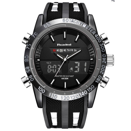 高級ブランド腕時計 男性用スポーツ腕時計 防水 LED デジタルクォーツメンズミリタリー腕時計 時計男性レロジオ k-1417_画像2