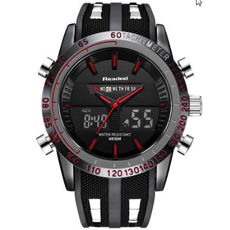 高級ブランド腕時計 男性用スポーツ腕時計 防水 LED デジタルクォーツメンズミリタリー腕時計 時計男性レロジオ k-1417_画像3
