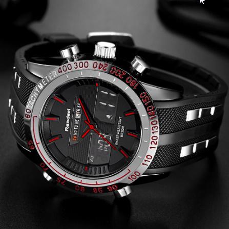 高級ブランド腕時計 男性用スポーツ腕時計 防水 LED デジタルクォーツメンズミリタリー腕時計 時計男性レロジオ k-1417_画像4