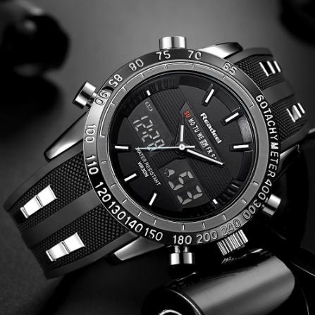 高級ブランド腕時計 男性用スポーツ腕時計 防水 LED デジタルクォーツメンズミリタリー腕時計 時計男性レロジオ k-1417_画像1