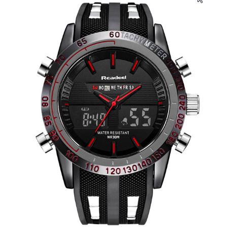 高級ブランド腕時計 男性用スポーツ腕時計 防水 LED デジタルクォーツメンズミリタリー腕時計 時計男性レロジオ k-1417_画像6