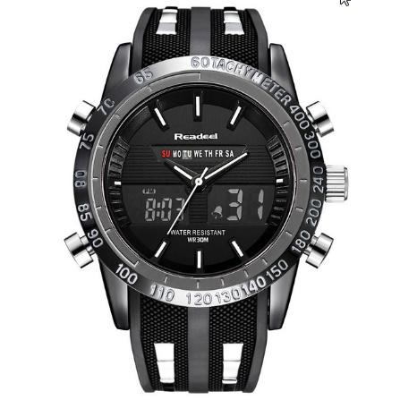 高級ブランド腕時計 男性用スポーツ腕時計 防水 LED デジタルクォーツメンズミリタリー腕時計 時計男性レロジオ k-1417_画像7