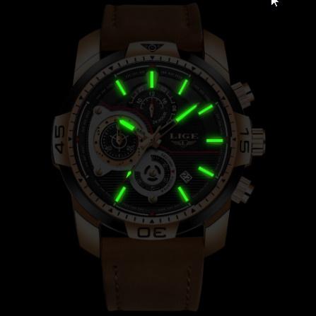 メンズ 腕時計トップブランド 高級カジュアルレザークォーツ時計 男性スポーツ防水時計ゴールド時計 男性レロジオ Masculino k-1419_画像4