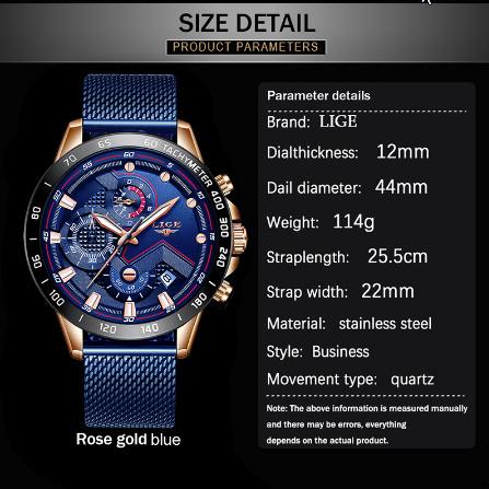 ファッションメンズ腕時計 トップブランド高級腕時計 クォーツ時計ブルー腕時計 防水スポーツクロノグラフレロジオ Masculino k-1428_画像5