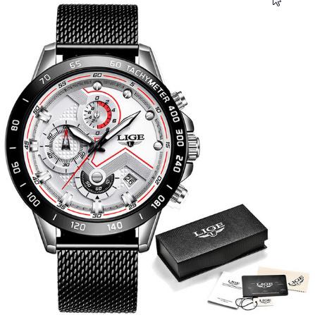 ファッションメンズ腕時計 トップブランド高級腕時計 クォーツ時計ブルー腕時計 防水スポーツクロノグラフレロジオ Masculino k-1428_画像9