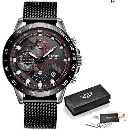 ファッションメンズ腕時計 トップブランド高級腕時計 クォーツ時計ブルー腕時計 防水スポーツクロノグラフレロジオ Masculino k-1428_画像8