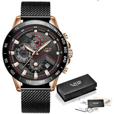 ファッションメンズ腕時計 トップブランド高級腕時計 クォーツ時計ブルー腕時計 防水スポーツクロノグラフレロジオ Masculino k-1428_画像6