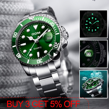 トップブランド DOM 高級メンズ腕時計 30m 防水日付時計男性スポーツ腕時計 男性用クォーツ腕時計レロジオ Masculino k-1429_画像1