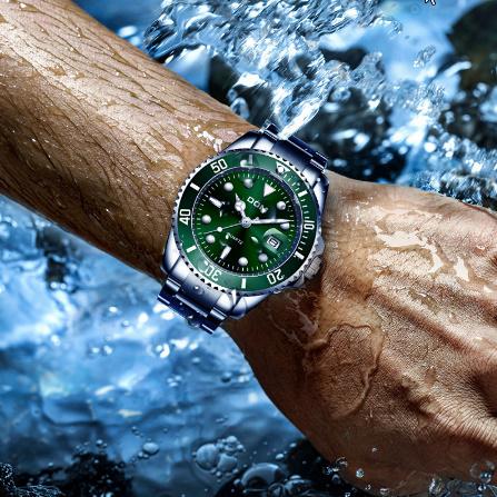 トップブランド DOM 高級メンズ腕時計 30m 防水日付時計男性スポーツ腕時計 男性用クォーツ腕時計レロジオ Masculino k-1429_画像4