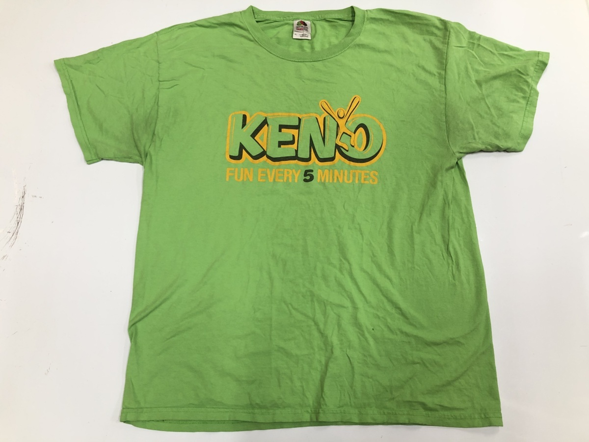KENO Tシャツ アメリカ輸入品 USA古着卸 アメカジ サイズXL BIG オーバーサイズ Fruits of the loom フルーツオブザル―ム_画像1
