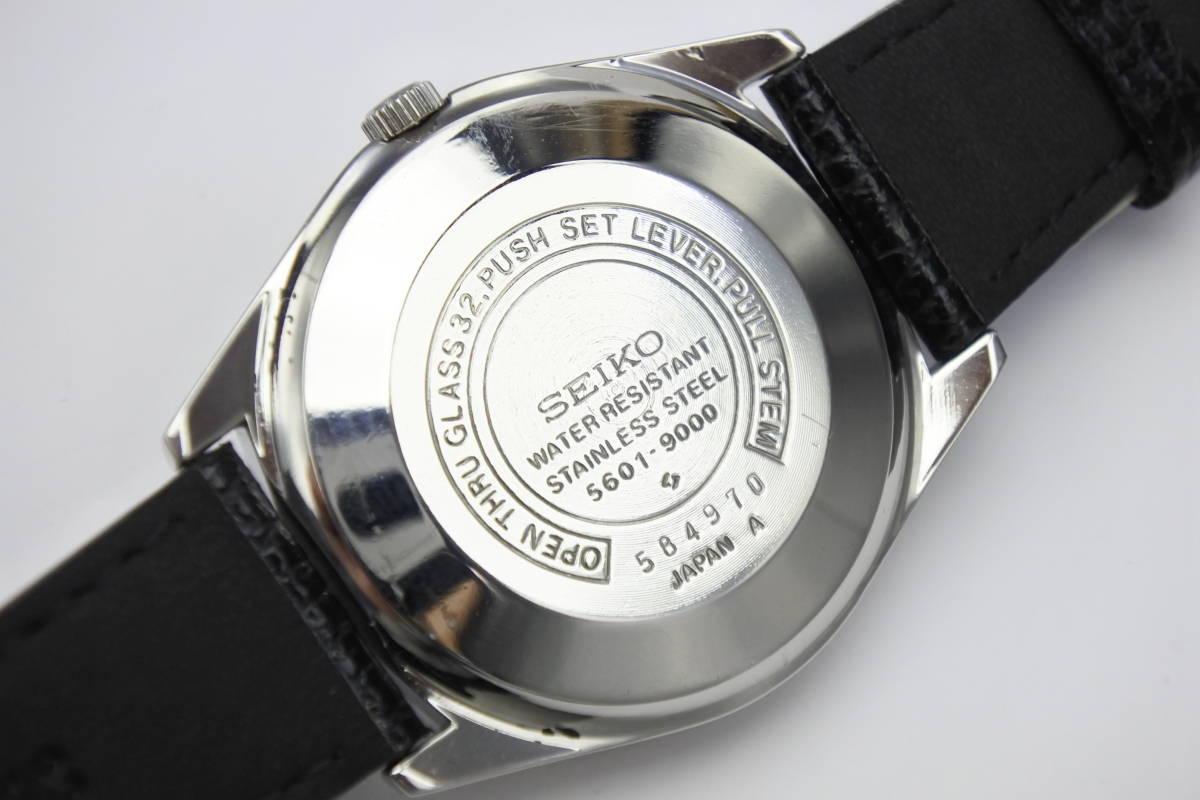 ☆☆☆デットストック 70年代高級機 セイコー SEIKO ロードマチック 23石 自動巻紳士腕時計 全数字 秒針停止機能付 ケース付_画像2