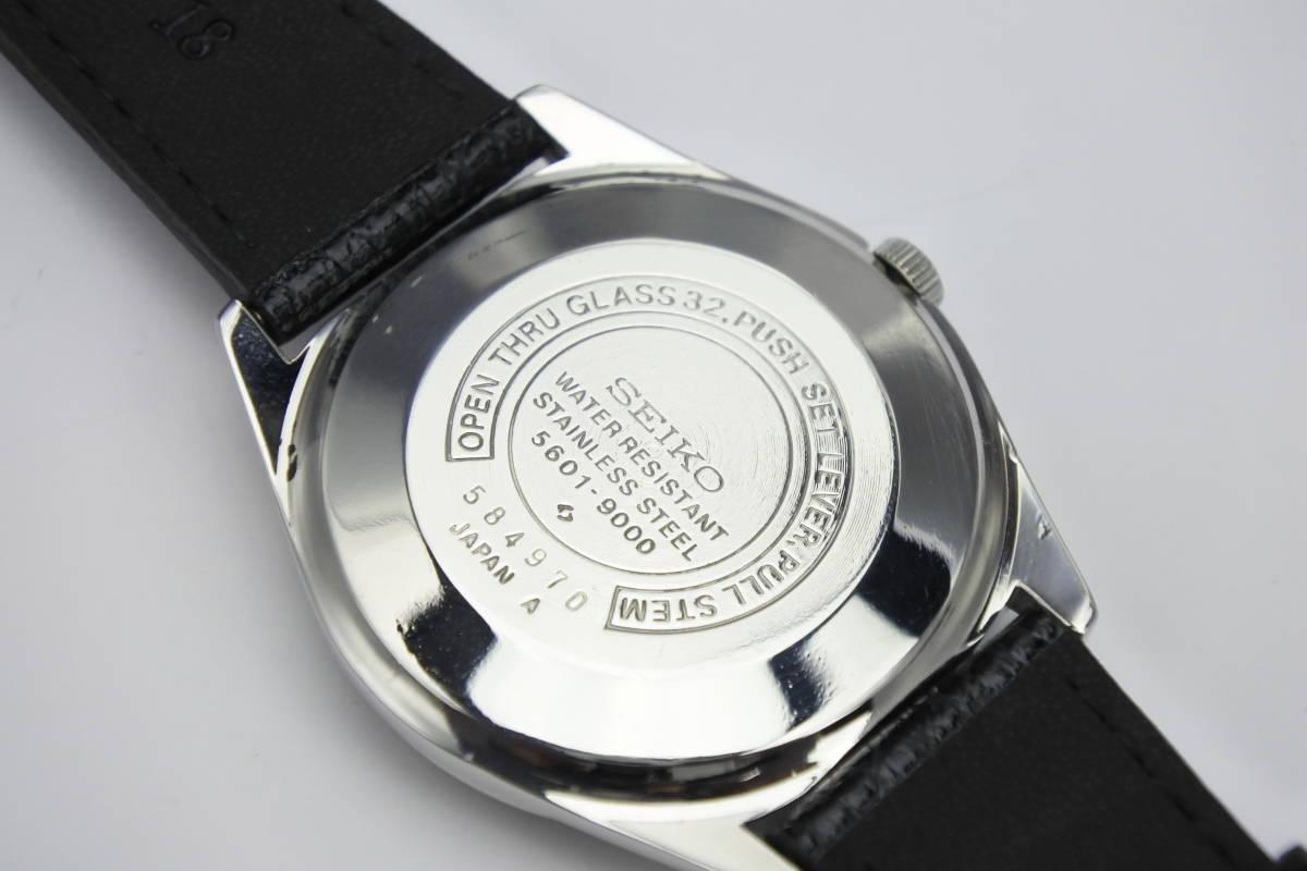 ☆☆☆デットストック 70年代高級機 セイコー SEIKO ロードマチック 23石 自動巻紳士腕時計 全数字 秒針停止機能付 ケース付_画像3