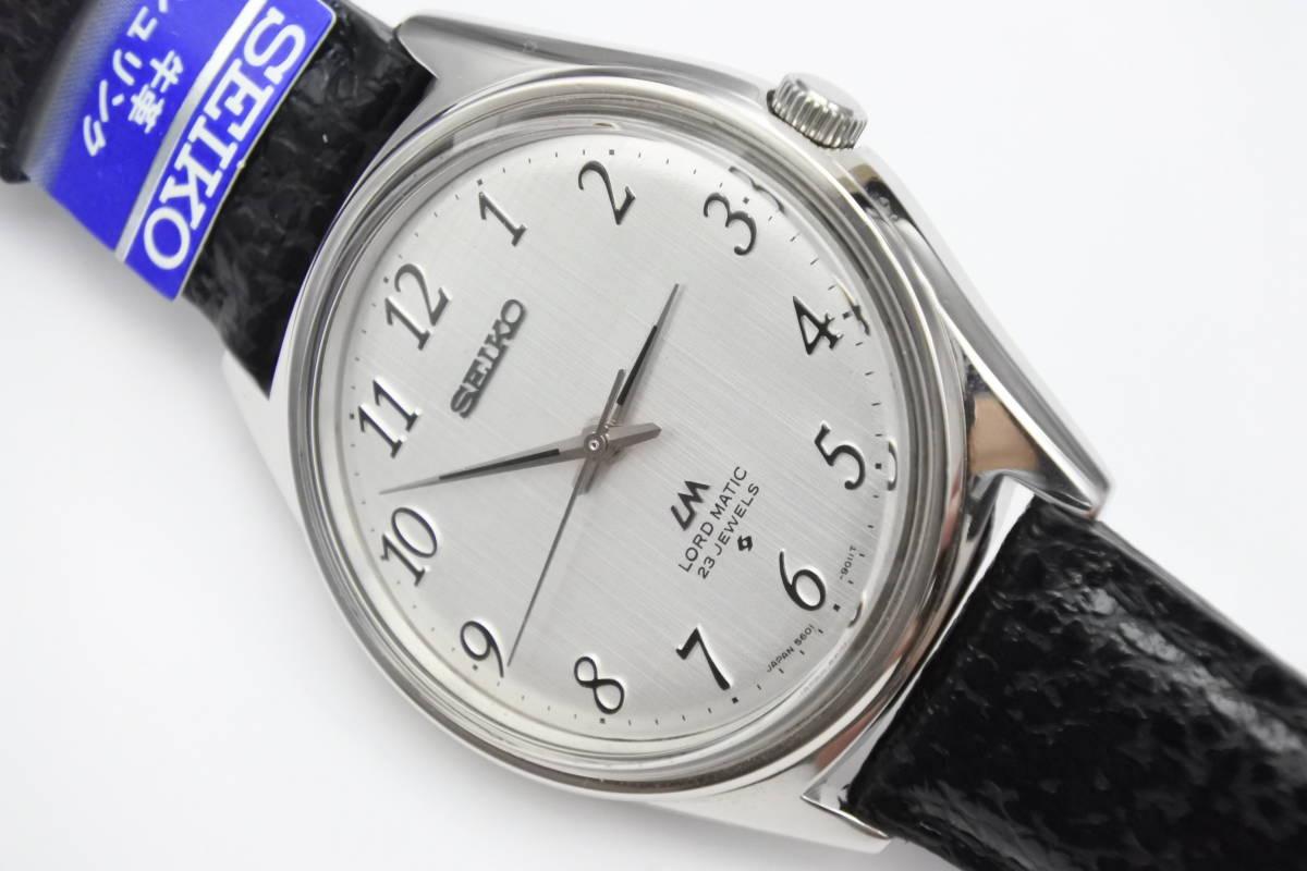 ☆☆☆デットストック 70年代高級機 セイコー SEIKO ロードマチック 23石 自動巻紳士腕時計 全数字 秒針停止機能付 ケース付_画像6