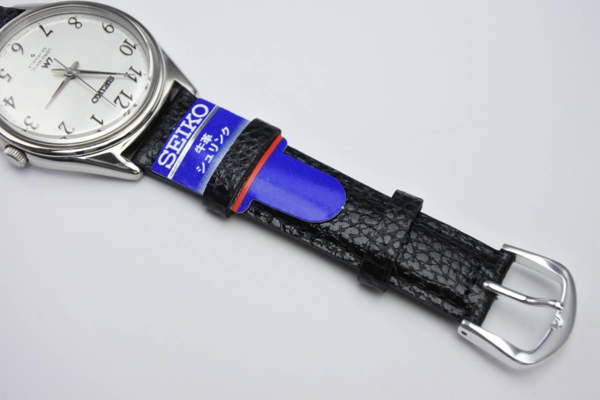 ☆☆☆デットストック 70年代高級機 セイコー SEIKO ロードマチック 23石 自動巻紳士腕時計 全数字 秒針停止機能付 ケース付_画像7