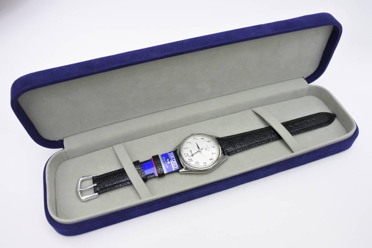 ☆☆☆デットストック 70年代高級機 セイコー SEIKO ロードマチック 23石 自動巻紳士腕時計 全数字 秒針停止機能付 ケース付_画像9