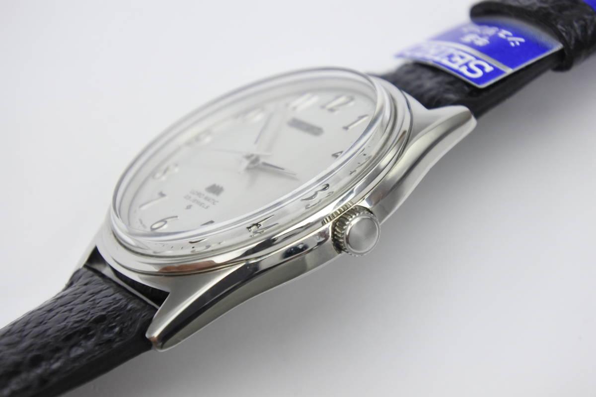 ☆☆☆デットストック 70年代高級機 セイコー SEIKO ロードマチック 23石 自動巻紳士腕時計 全数字 秒針停止機能付 ケース付_画像10