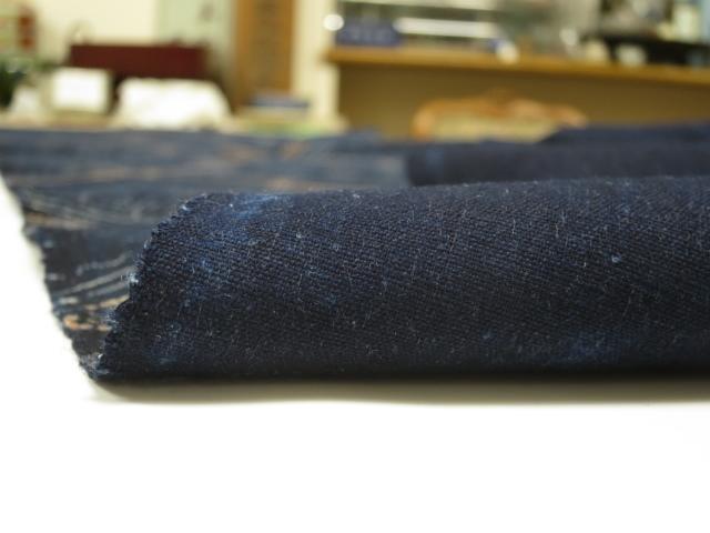 ★木綿の藍型染め 33×190cm★古布,布団,はぎれ,藍染め_画像6