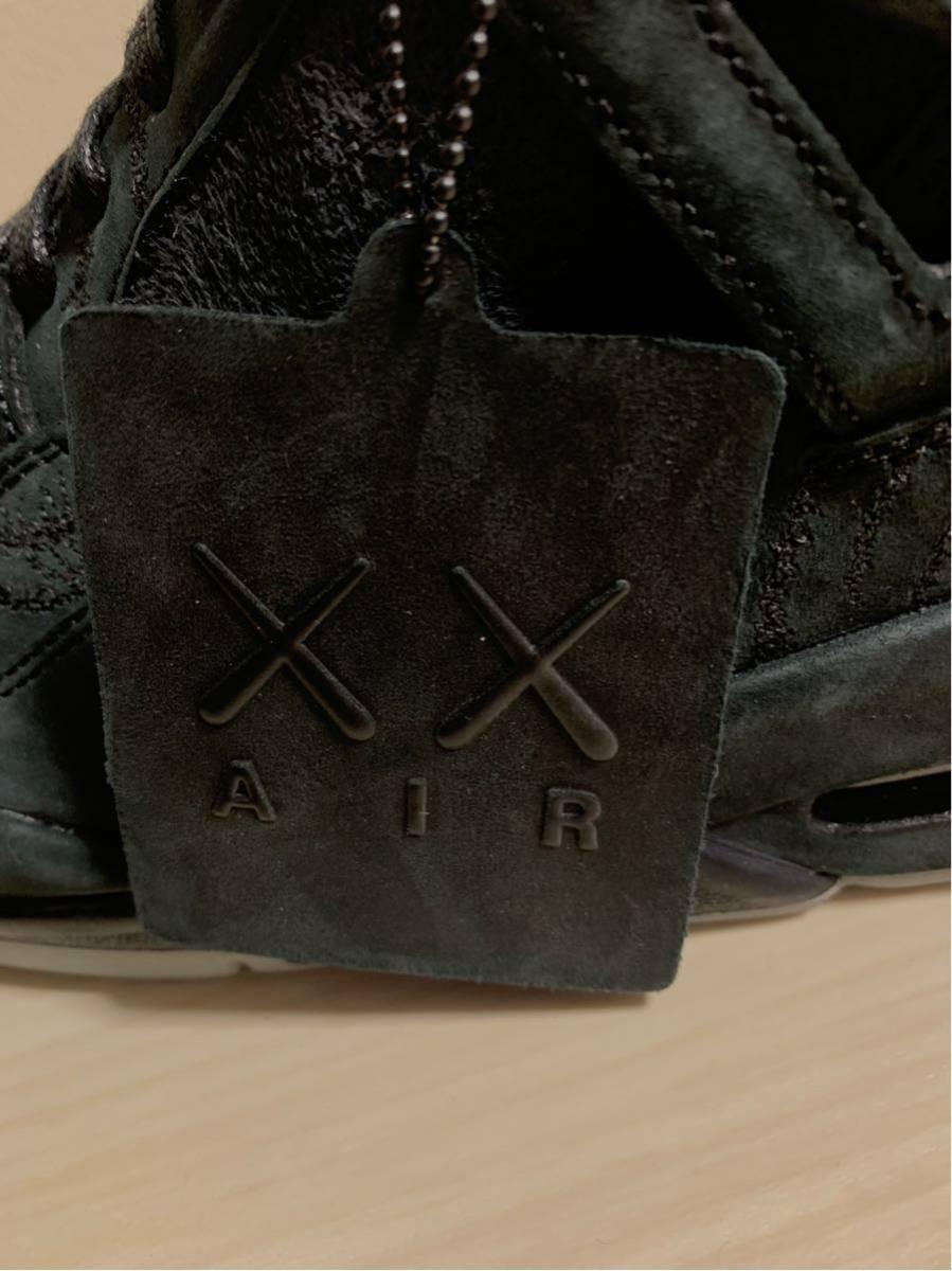 未使用 激レア NIKE AIR JORDAN4 KAWS BLACK ナイキ エアジョーダン4 カウズ ブラック us11 29cm 930155-001 カード 袋 箱付き_画像8
