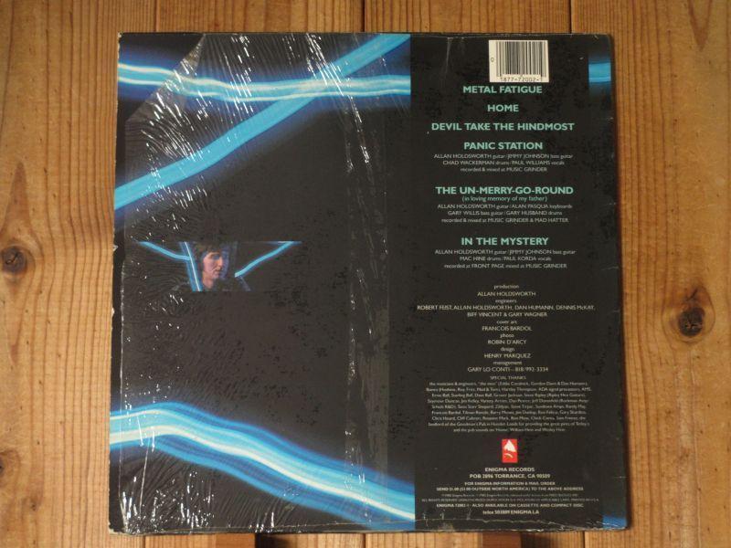 アランホールズワース / Allan Holdsworth With I.O.U. / Metal Fatigue / Enigma / 72002-1 / US盤 / オリジナル_画像2