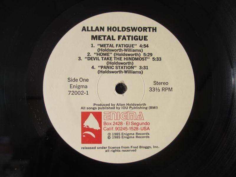 アランホールズワース / Allan Holdsworth With I.O.U. / Metal Fatigue / Enigma / 72002-1 / US盤 / オリジナル_画像3