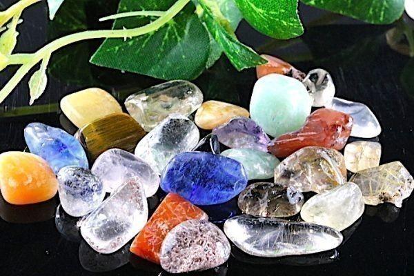 【送料無料】 200g さざれ 中サイズ ミックスジェムストーン 水晶 パワーストーン 天然石 ブレスレット 浄化用 さざれ石 チップ ※5_画像3