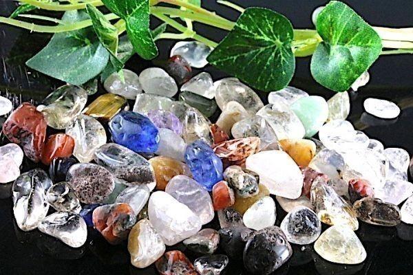 【送料無料】 200g さざれ 中サイズ ミックスジェムストーン 水晶 パワーストーン 天然石 ブレスレット 浄化用 さざれ石 チップ ※5_画像5