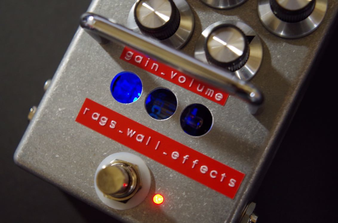 Rags Wall Effects / Lighthouse Stomp pre-pre Amp 真空管プリプリアンプ ストンプタイプ (高信頼管 Philips ECG 5814A仕様)_画像3