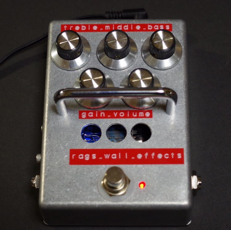 Rags Wall Effects / Lighthouse Stomp pre-pre Amp 真空管プリプリアンプ ストンプタイプ (高信頼管 Philips ECG 5814A仕様)_画像2