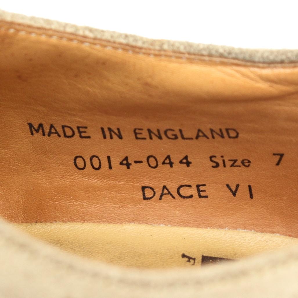 (yk99068)GEORGECOXジョージコックスDACEダイスMADE IN ENGLANDサイズUK7 約25.5~26cm(ラバーソール イングランド英国製ベージュスエード)_画像9
