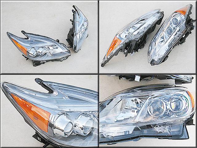 プリウスZVW30後期【TOYOTA】トヨタPRIUS純正USヘッドライト左右LEDタイプ(12yモデル)/USDM北米仕様フロントランプUSAサイドマーカー付き_画像2