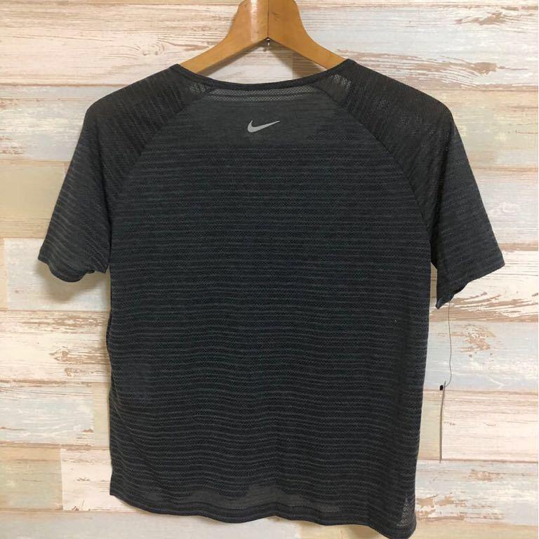 新品 定価4400円 Mサイズ NIKE ナイキ レディース マイラー ショートスリーブ ランニングトップ 891173-010 半袖Tシャツ