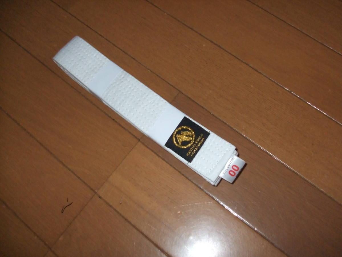 ★New unused★ white belt 00 No. karate martial arts