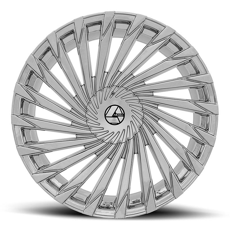 26インチ AZARA BY AMANI FORGED 501C クローム ホイール 26x9.5+15mm~ タイヤセット 5穴車、6穴車 エスカレード プラド QX56_画像2