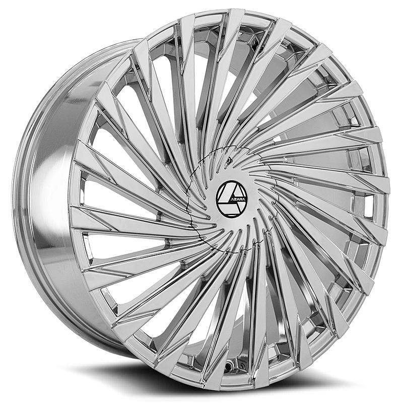 30インチ AZARA BY AMANI FORGED 501C クローム ホイール 30x9.5+15mm~ タイヤセット 5穴車、6穴車 エスカレード プラド QX56_画像2