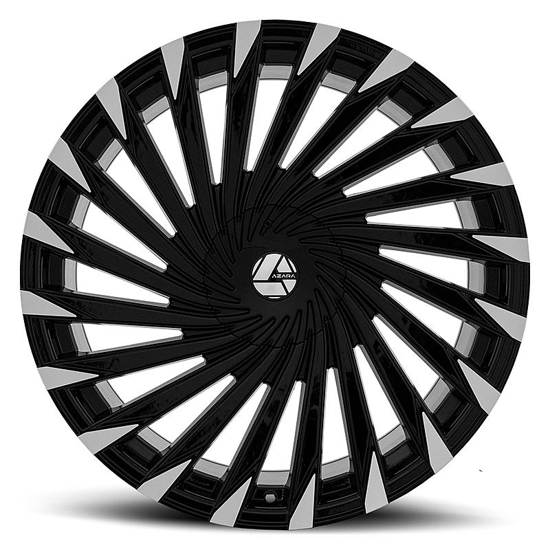 26インチ AZARA BY AMANI FORGED 501B ブラックマシンド ホイール 26X9.5+15mm~ 4本タイヤセット エスカレード、ナビゲーター 他_画像1