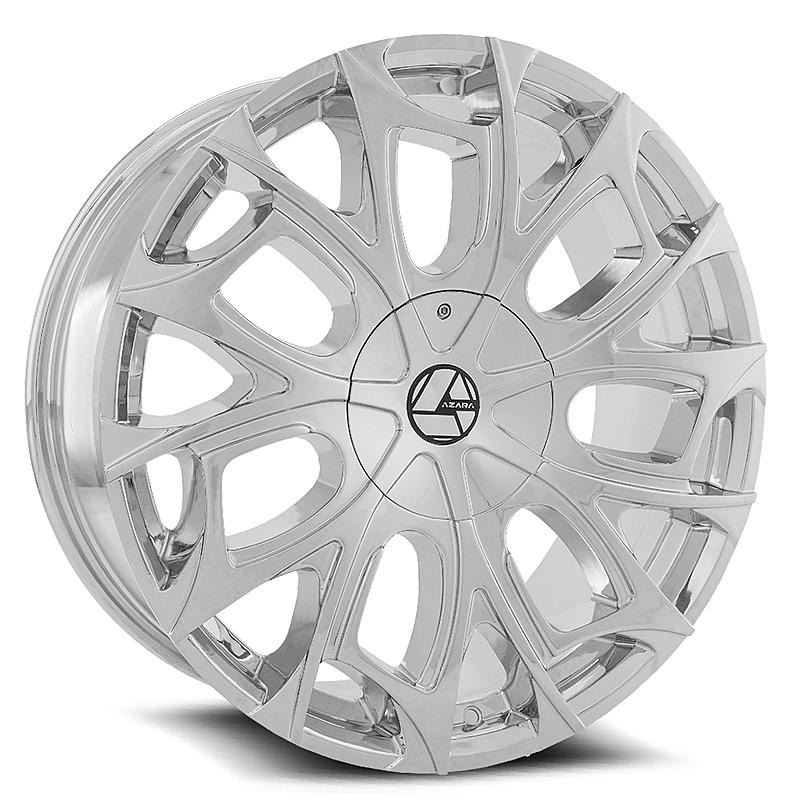 24インチ AZARA BY AMANI FORGED 512C クローム ホイール 24x9J+18mm~ +35mm ブランク タイヤセット 5穴車 6穴車なんでも_画像4