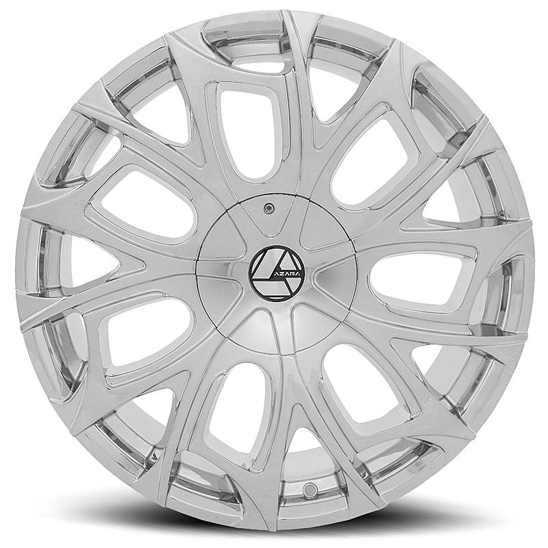 24インチ AZARA BY AMANI FORGED 512C クローム ホイール 24x9J+18mm~ +35mm ブランク タイヤセット 5穴車 6穴車なんでも_画像3