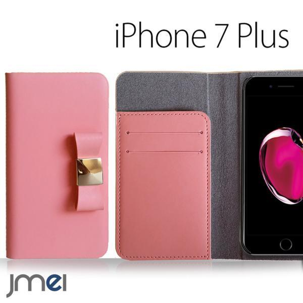 iPhone 7 Plus iphone plus JMEI 本革リボ ンフケース Rピンク M_画像1
