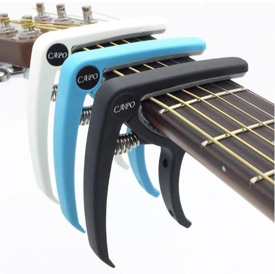プラスチック ギター カポ 6弦 アコースティック クラシック 電気ギター チューニング クランプ 楽器アクセサリー ギターカポ_画像1