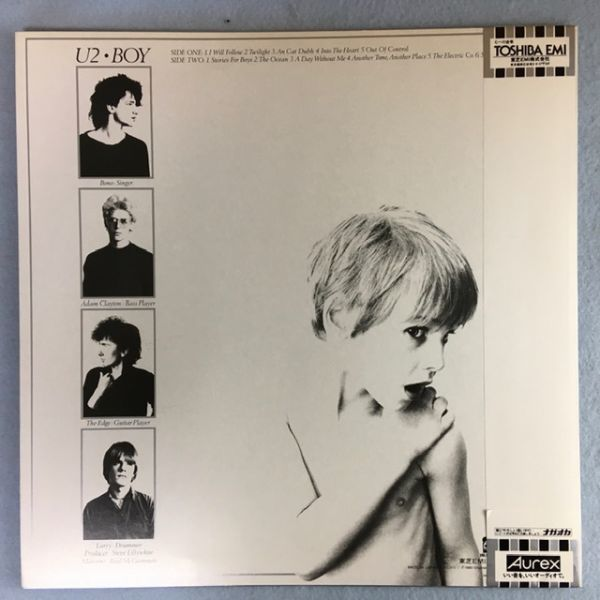 【国内初版】U2/ボーイ【東芝 LP】 U2/Boy Japan Original Toshiba LP_画像2