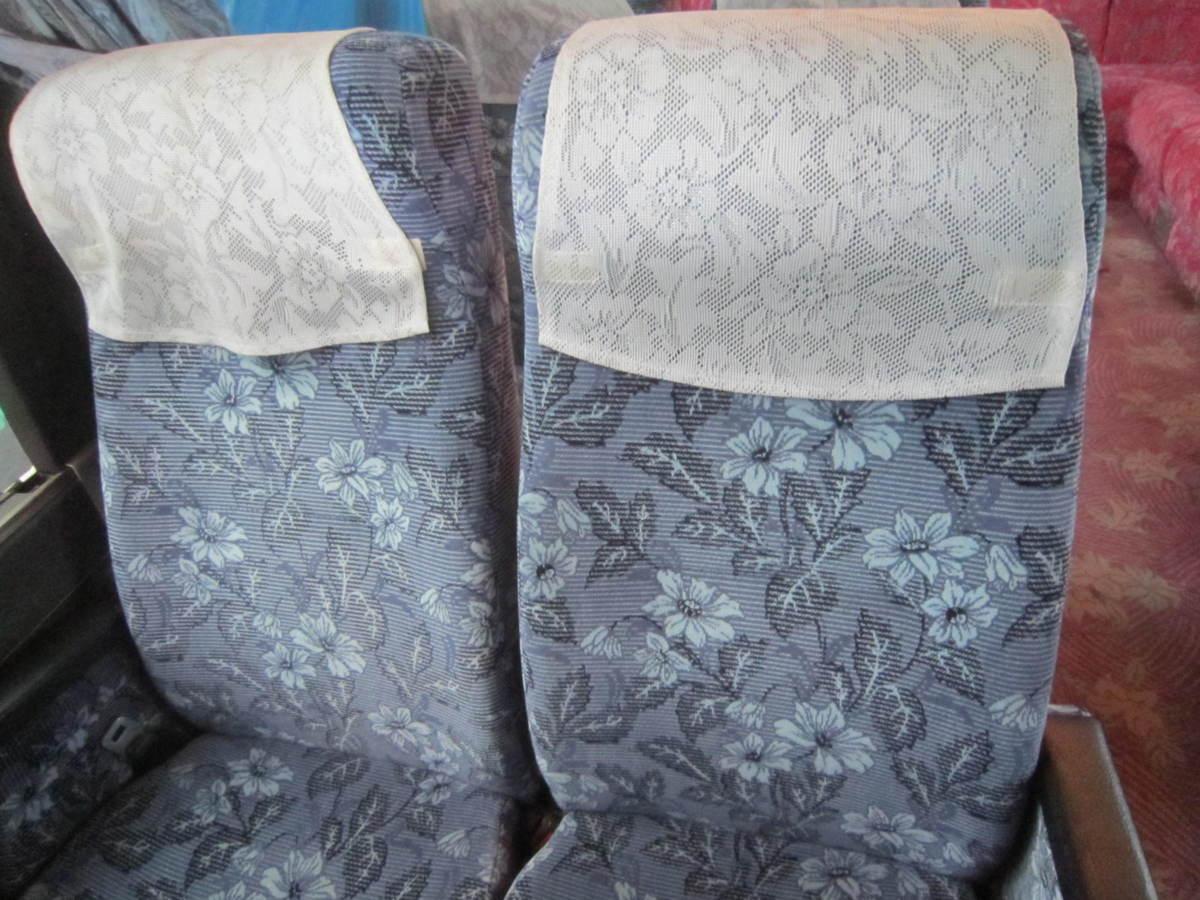 193695 観光バス サロンバス 固定 シート 2座席1脚 青 ブルー_画像3