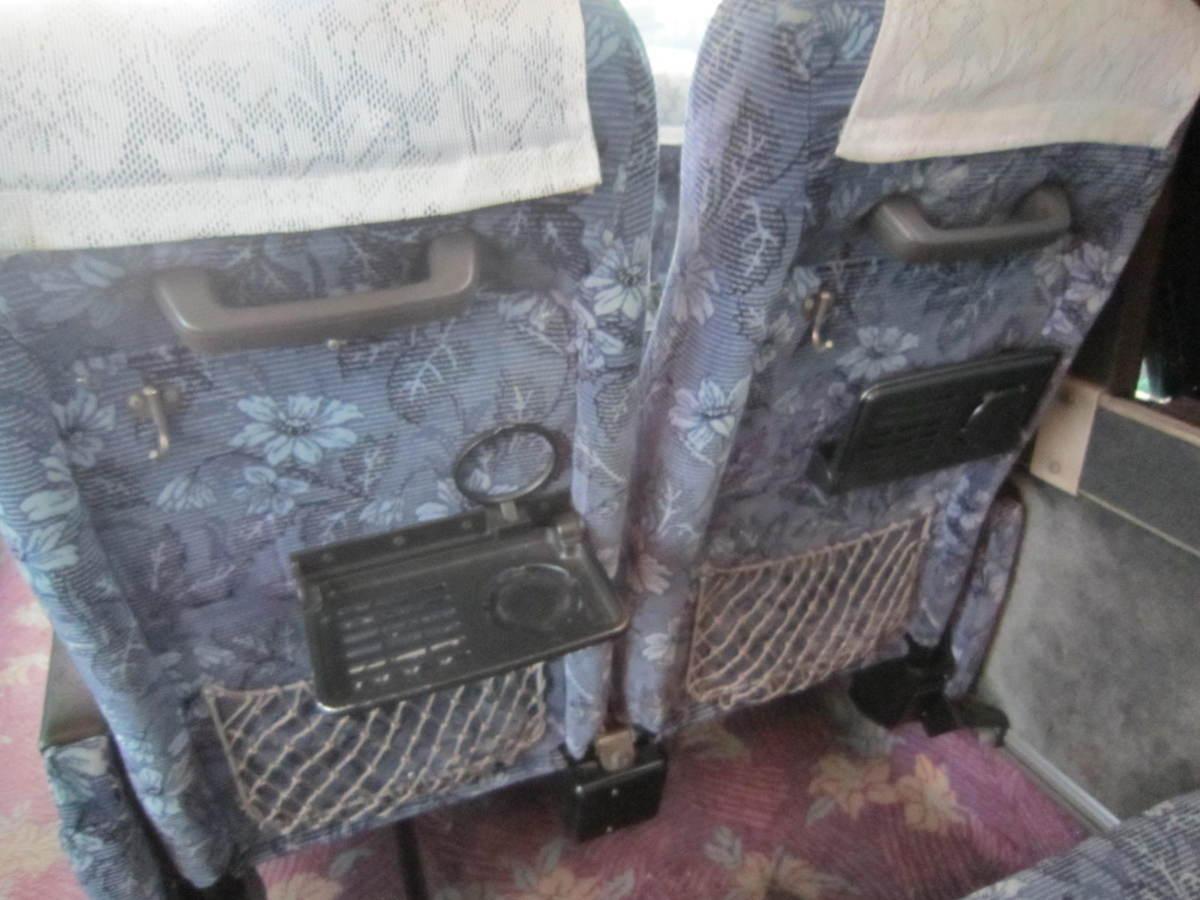 193695 観光バス サロンバス 固定 シート 2座席1脚 青 ブルー_画像4