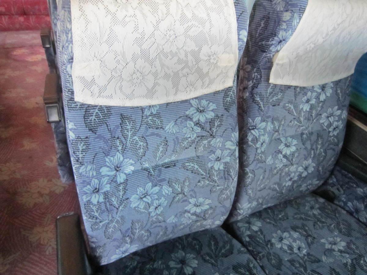 193699 観光バス サロンバス 固定 シート 2座席1脚 青 ブルー_画像3