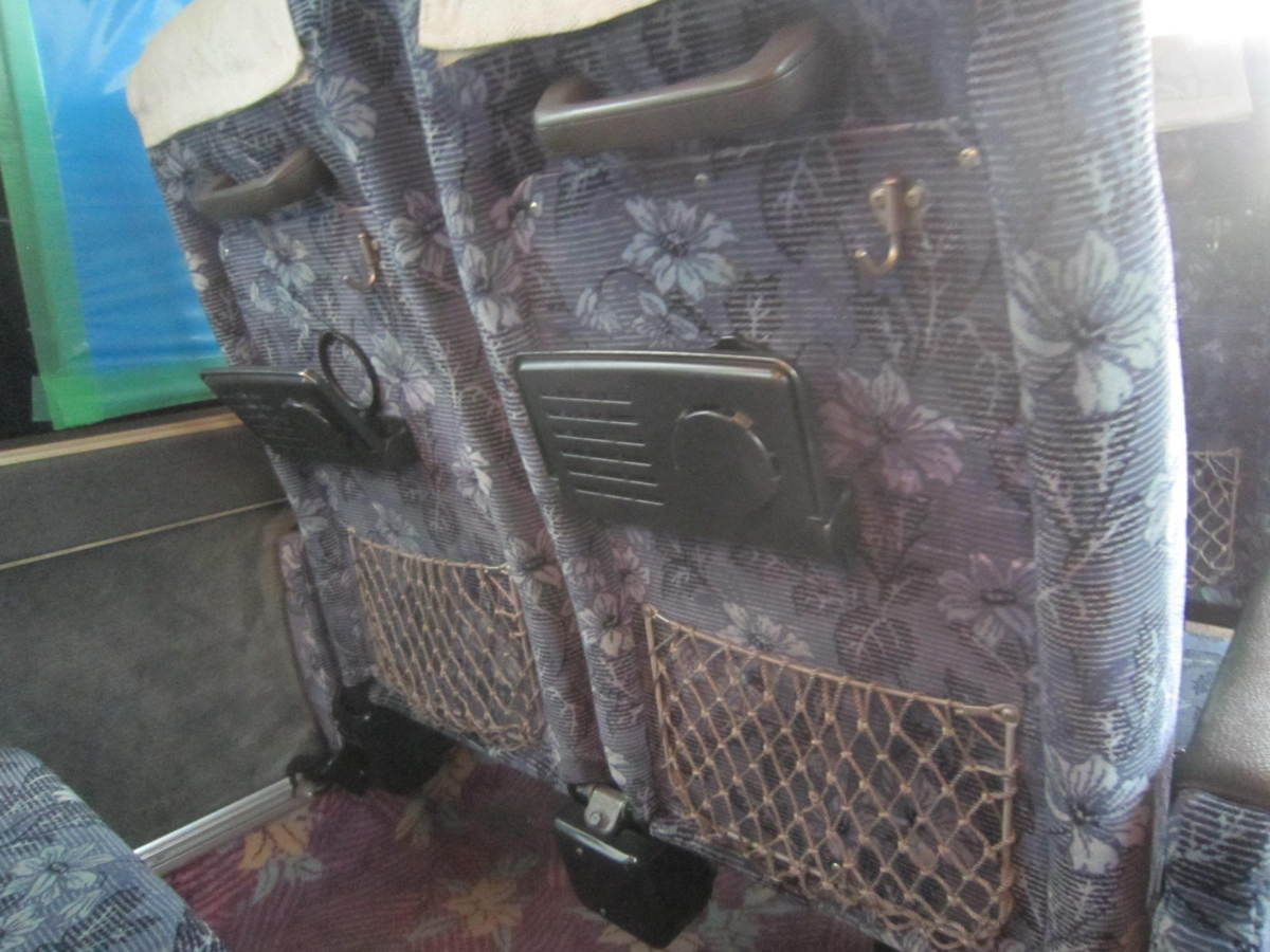 193699 観光バス サロンバス 固定 シート 2座席1脚 青 ブルー_画像4