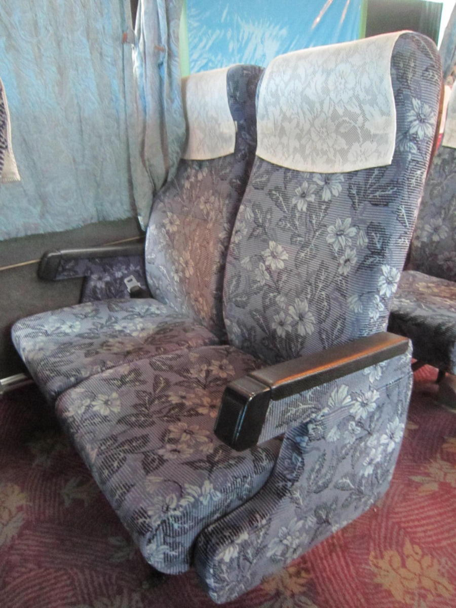 193695 観光バス サロンバス 固定 シート 2座席1脚 青 ブルー_画像1
