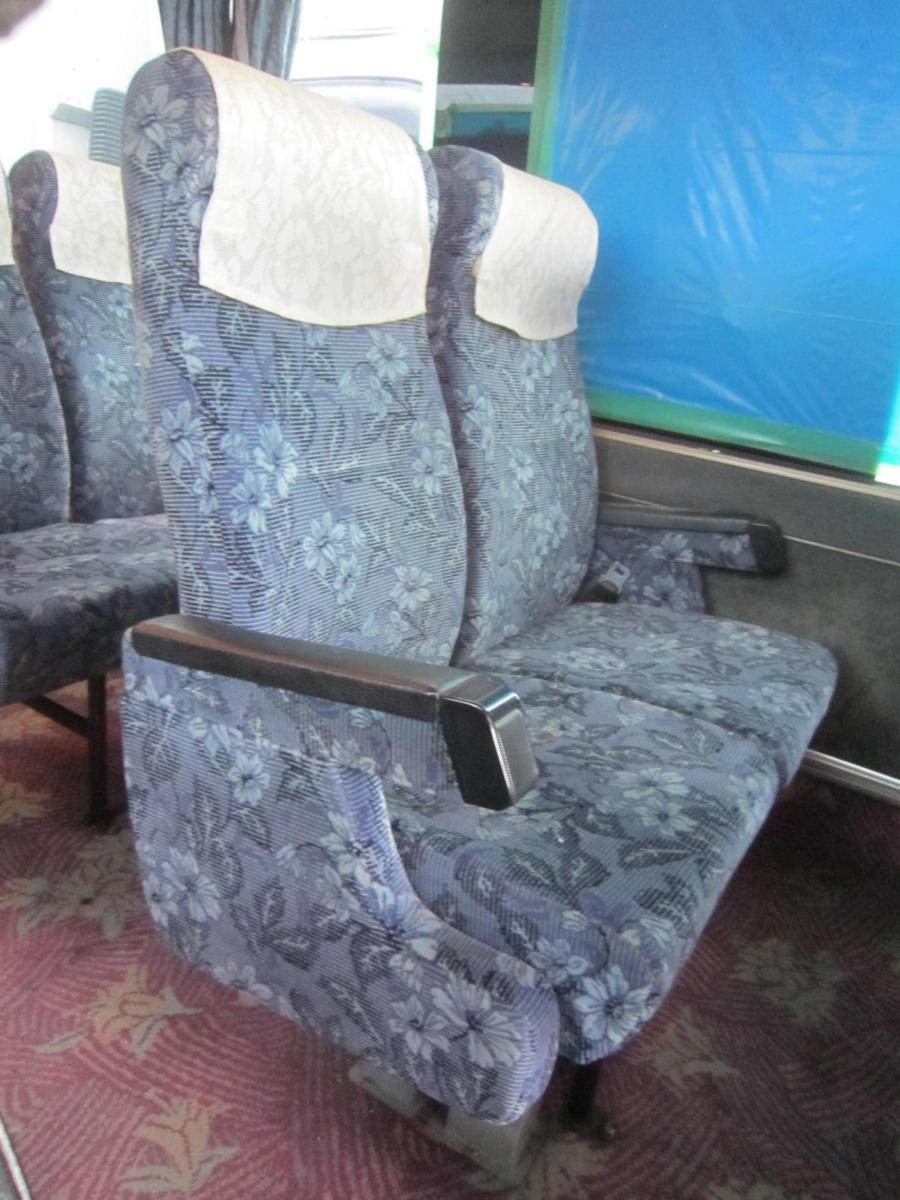 193699 観光バス サロンバス 固定 シート 2座席1脚 青 ブルー_画像1