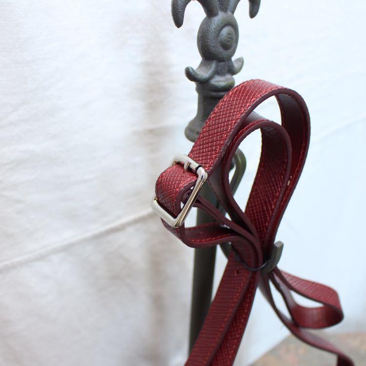 LONGCHAMP KUADORI LEATHER SHOULDER BAG MADE IN FRANCE/ロンシャンクアドリレザーショルダーバッグ_画像5