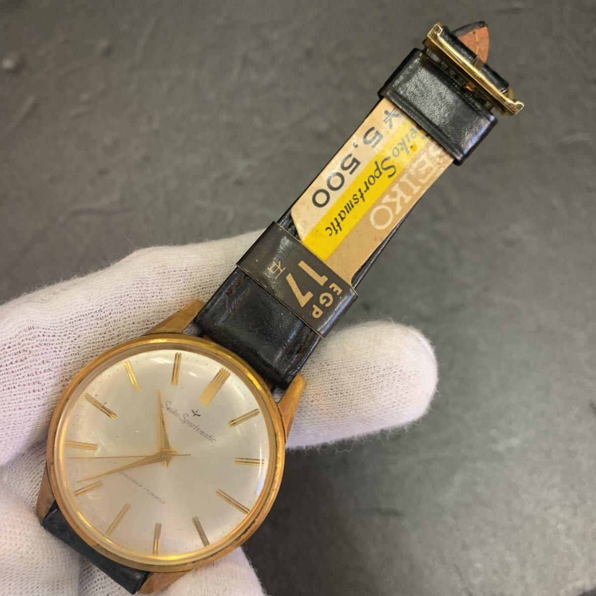 未使用品/デットストック品ですが竜頭欠品/SEIKO セイコー/sportsmatic スポーツマチック Diashock 15035 17石 自動巻き 腕時計//KA183